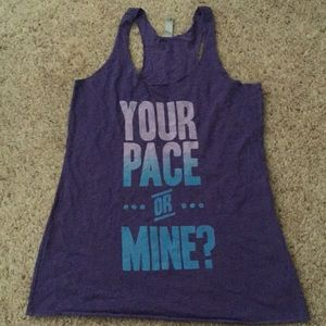 Your pace or mine athletic running tank top